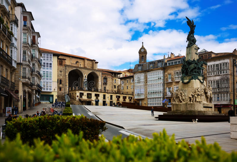 Blanca van Virgen vierkant Vitoria-Gasteiz stock foto's