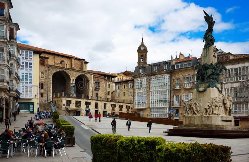 Blanca van Virgen vierkant Vitoria-Gasteiz, Spanje stock afbeeldingen