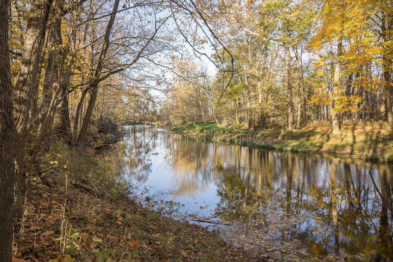 Blanchard River lizenzfreies stockfoto