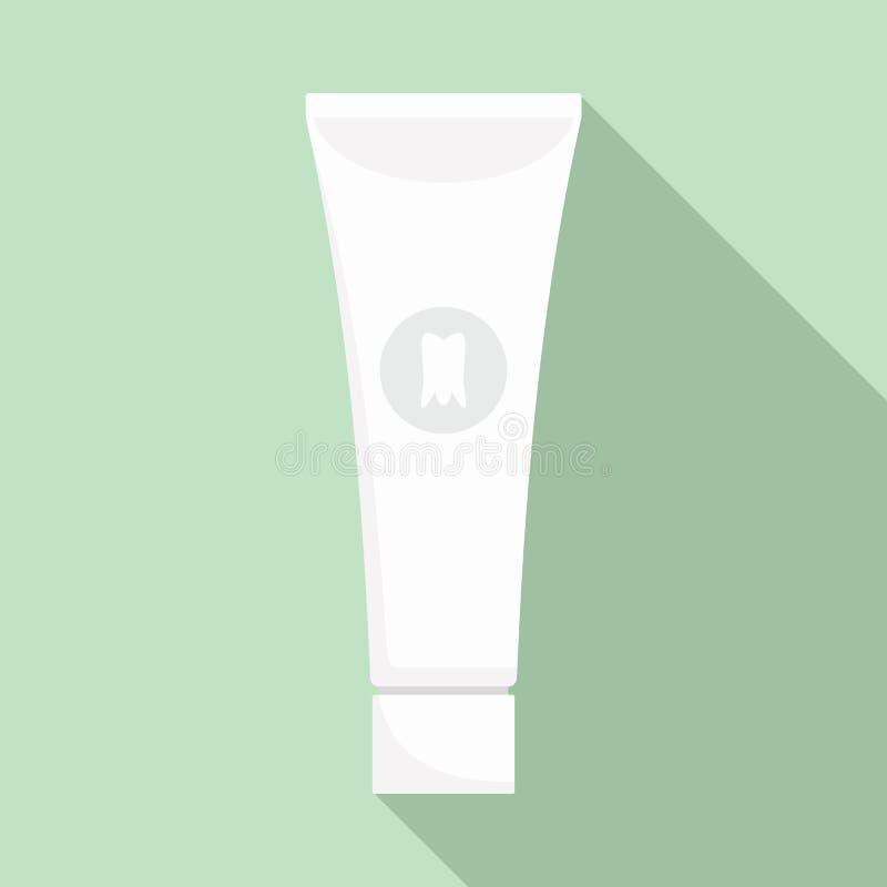 Blanchiment de l'icône de pâte dentifrice, style plat illustration stock
