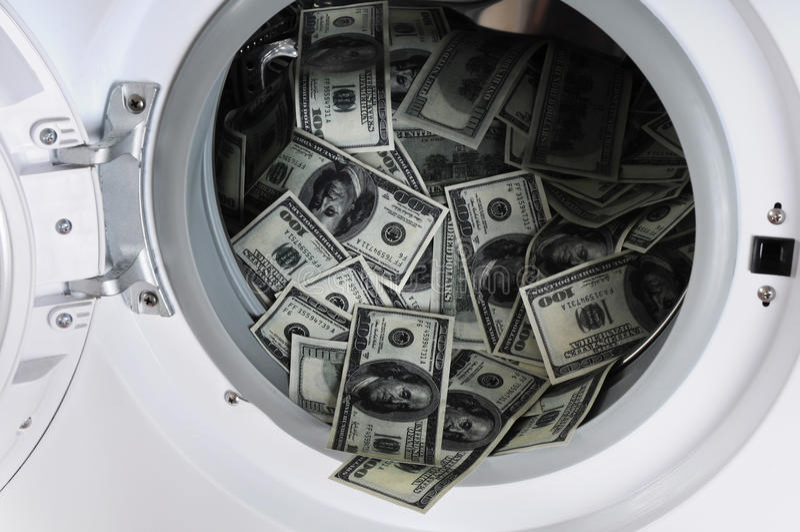 Blanchissage d'argent photo libre de droits