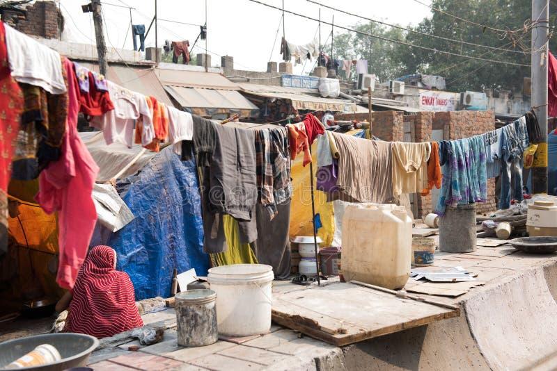 Blanchisserie à Delhi image stock