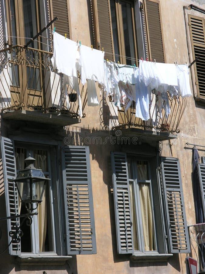 Blanchisserie blanche photos libres de droits