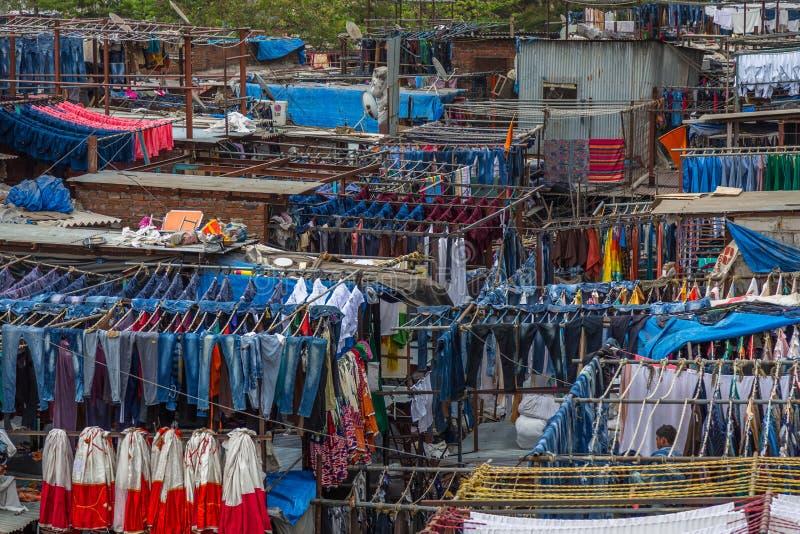 Blanchisserie de Dhobi Ghat Mumbai photos libres de droits
