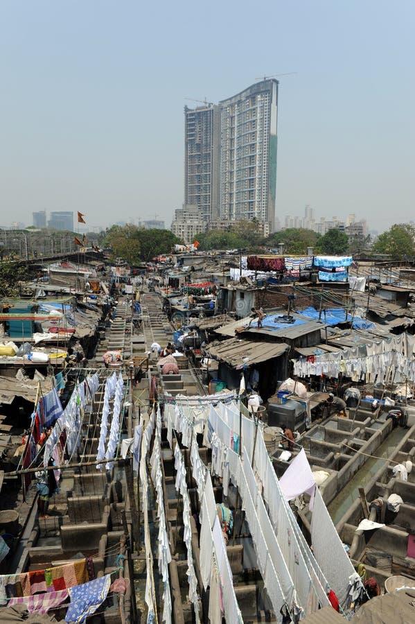 Blanchisserie de Mumbai photographie stock