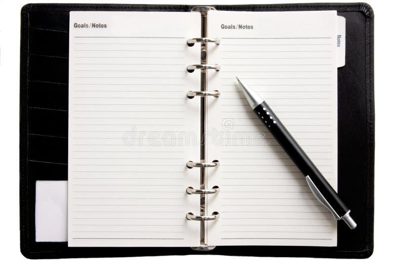 Blanck Geschäftstagesordnung lizenzfreies stockfoto