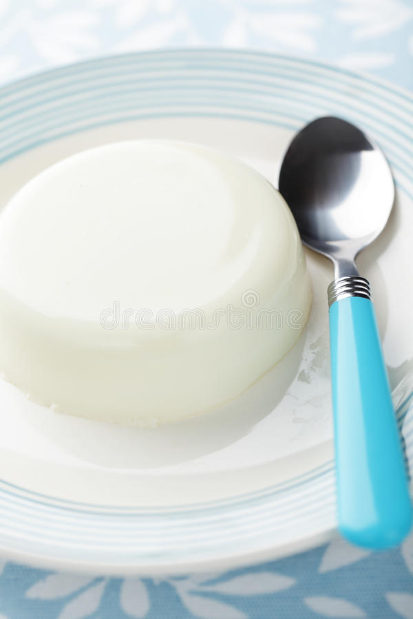 Download Blancmange stock photo. Image of spoon, meal, nobody - 20991814