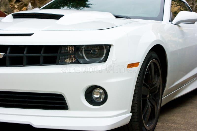 Blanco 2010 de Chevrolet Camaro imagen de archivo libre de regalías
