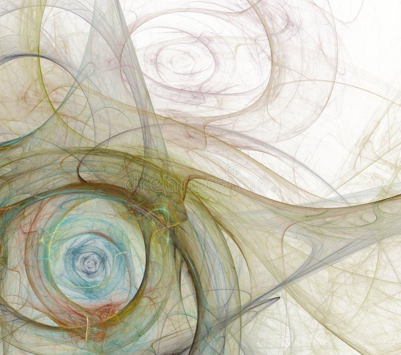 Blanco abstracto del fondo del fractal fotografía de archivo
