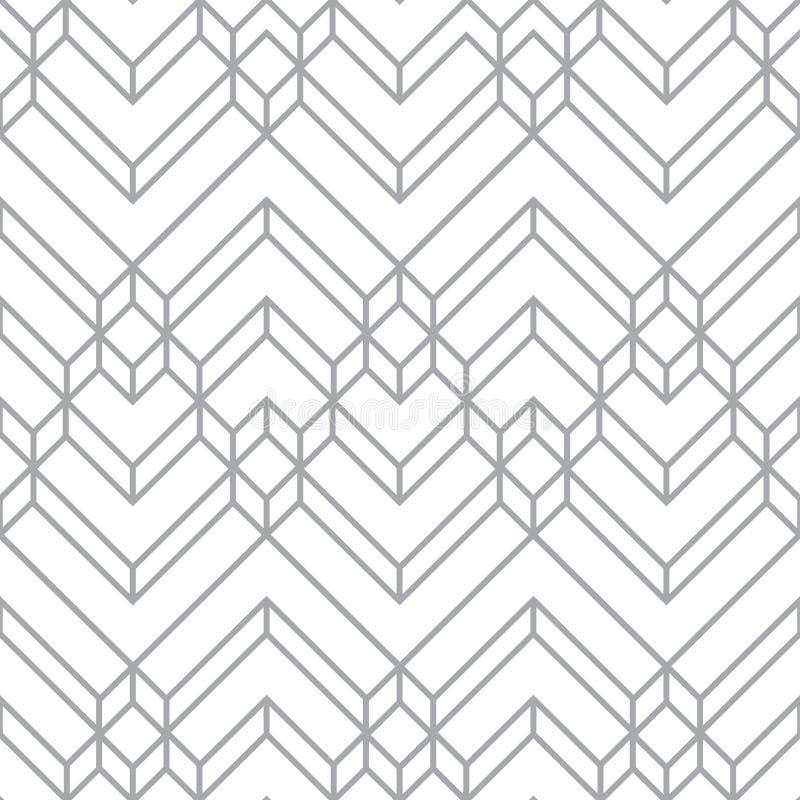 Blanco abstracto y Gray Light Chevron Geometric Pattern libre illustration