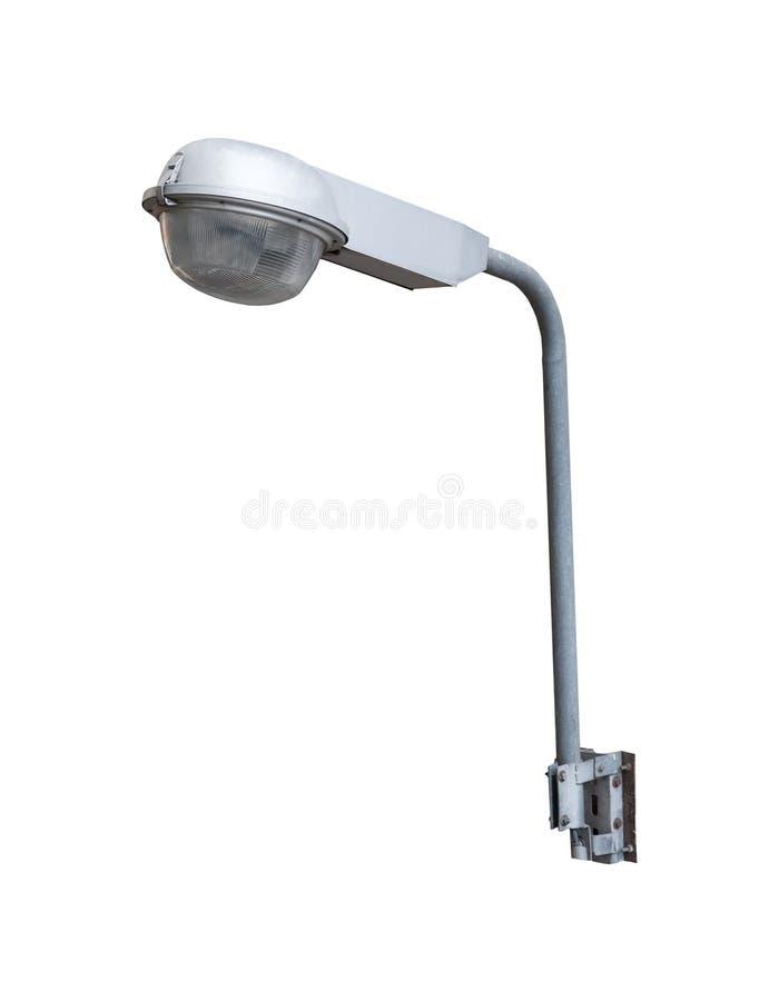 Blanco aislado lámpara de la luz del camino lateral imagen de archivo