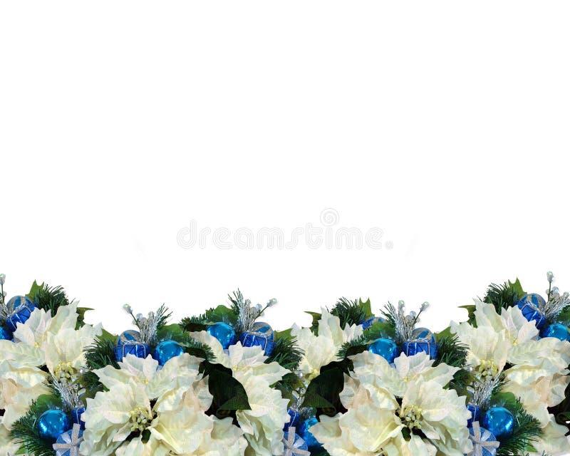 Download Blanco Azul De La Frontera De La Navidad Stock de ilustración - Ilustración de ornamentos, frontera: 7278493
