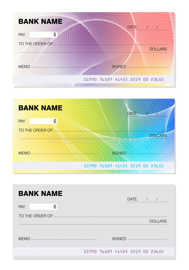 Blanco cheque royalty-vrije illustratie