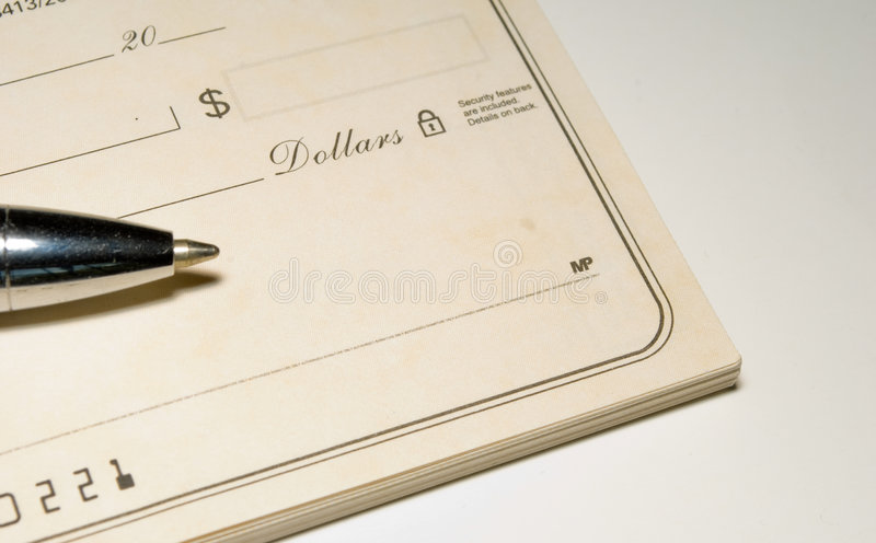 Blanco cheque stock fotografie