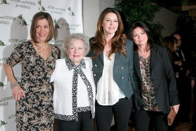 Blanco de Betty, Jane Leeves, Valerie Bertinelli, Wendie Malick foto de archivo libre de regalías