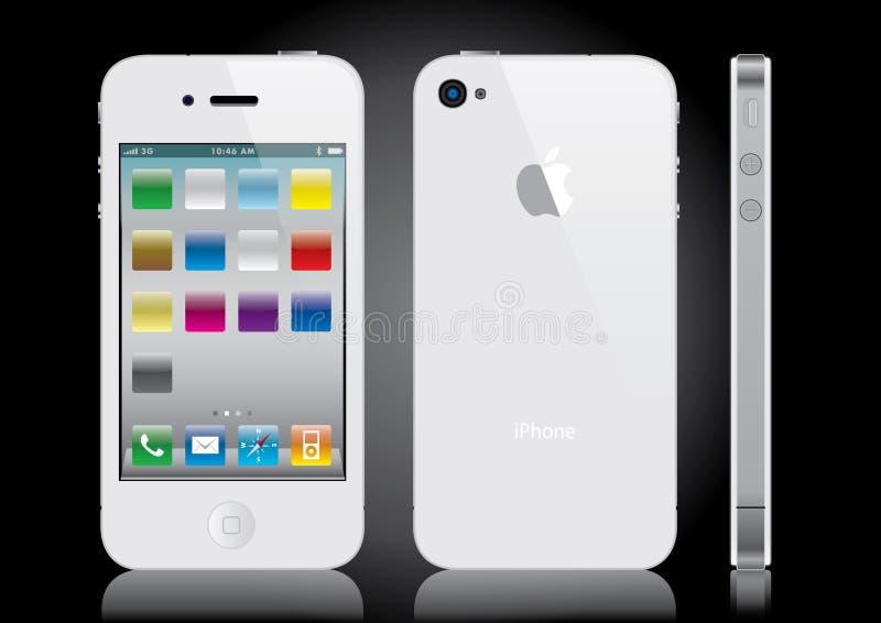 Blanco de Iphone fotos de archivo