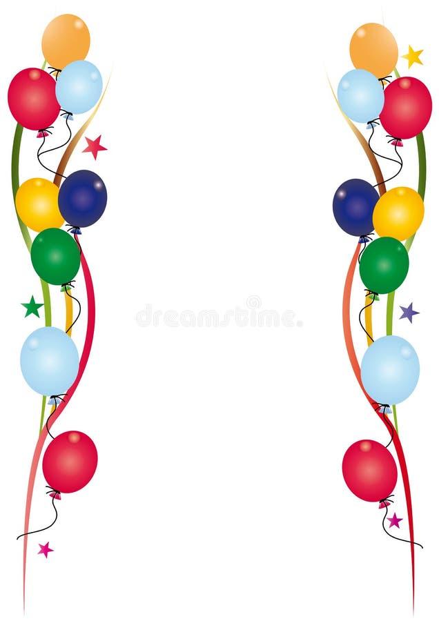 Blanco de la invitación del cumpleaños stock de ilustración