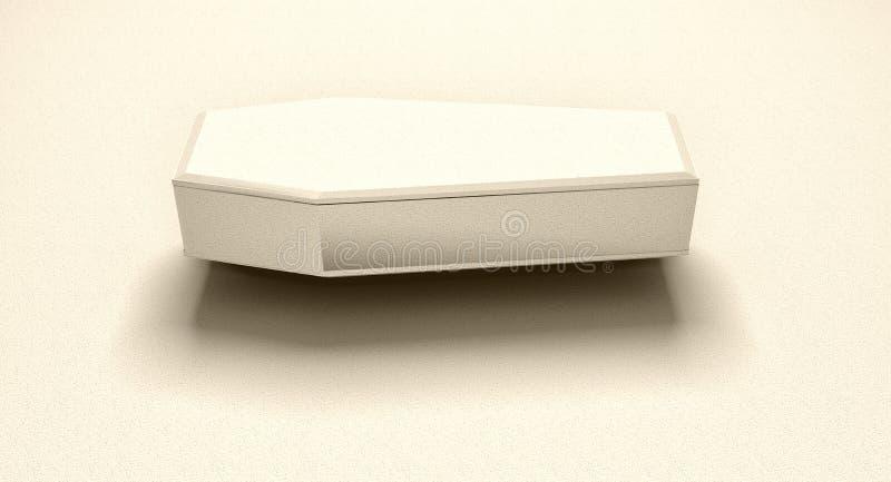 Blanco de la vista lateral del ataúd en blanco libre illustration