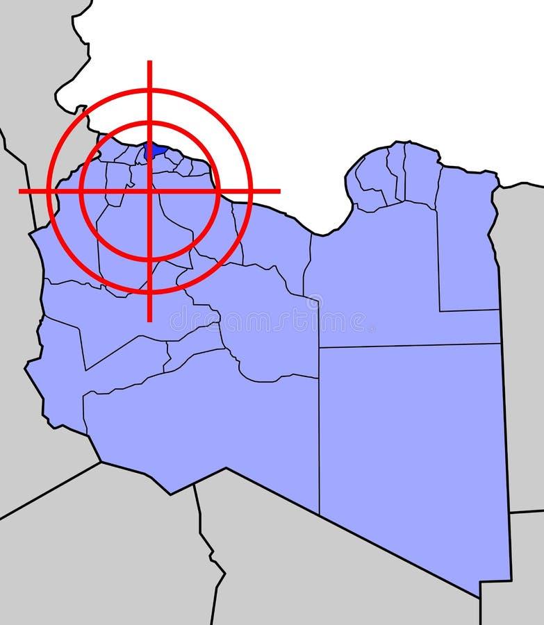 Blanco de Libia stock de ilustración