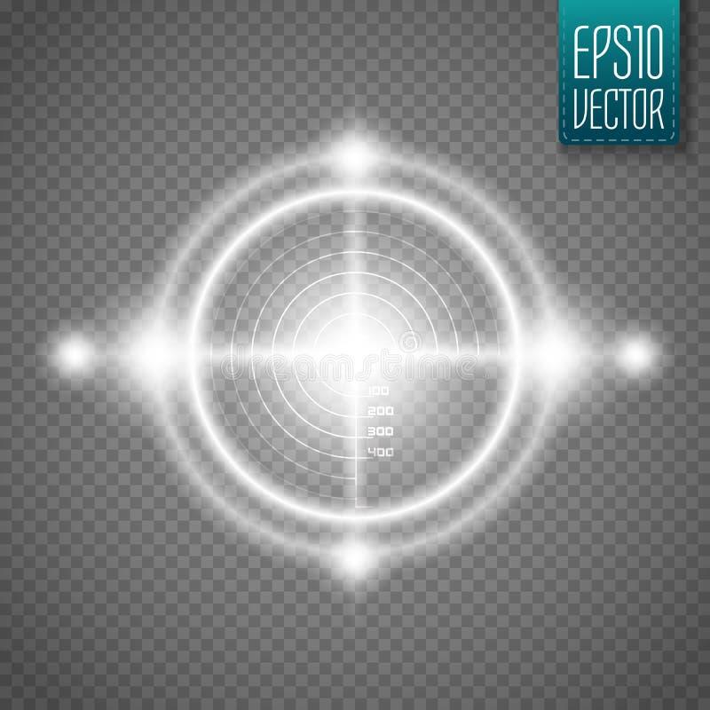 Blanco de neón aislada Elemento del interfaz del juego Vector ilustración del vector