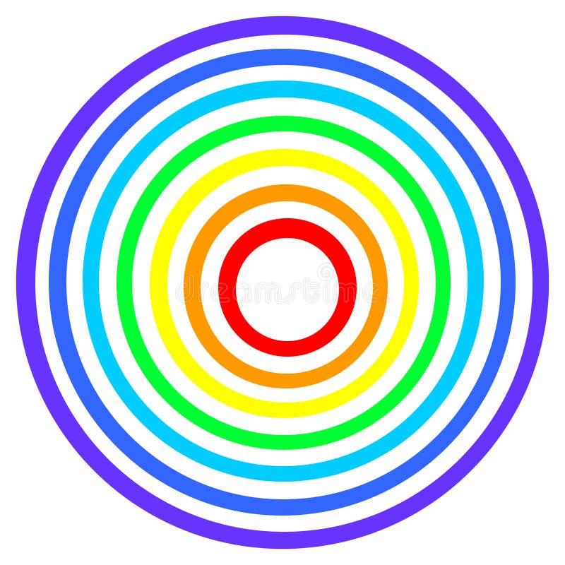 Blanco del arco iris ilustración del vector