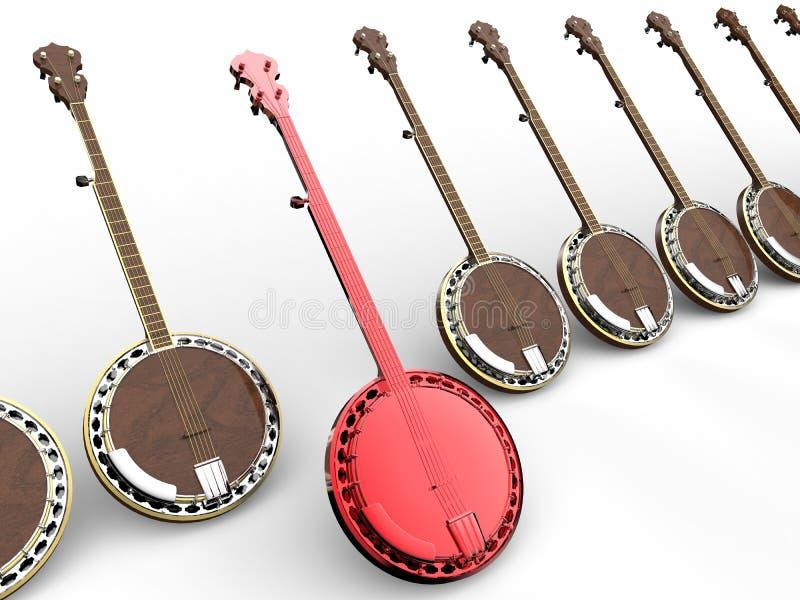 Blanco del banjo en la línea concepto stock de ilustración
