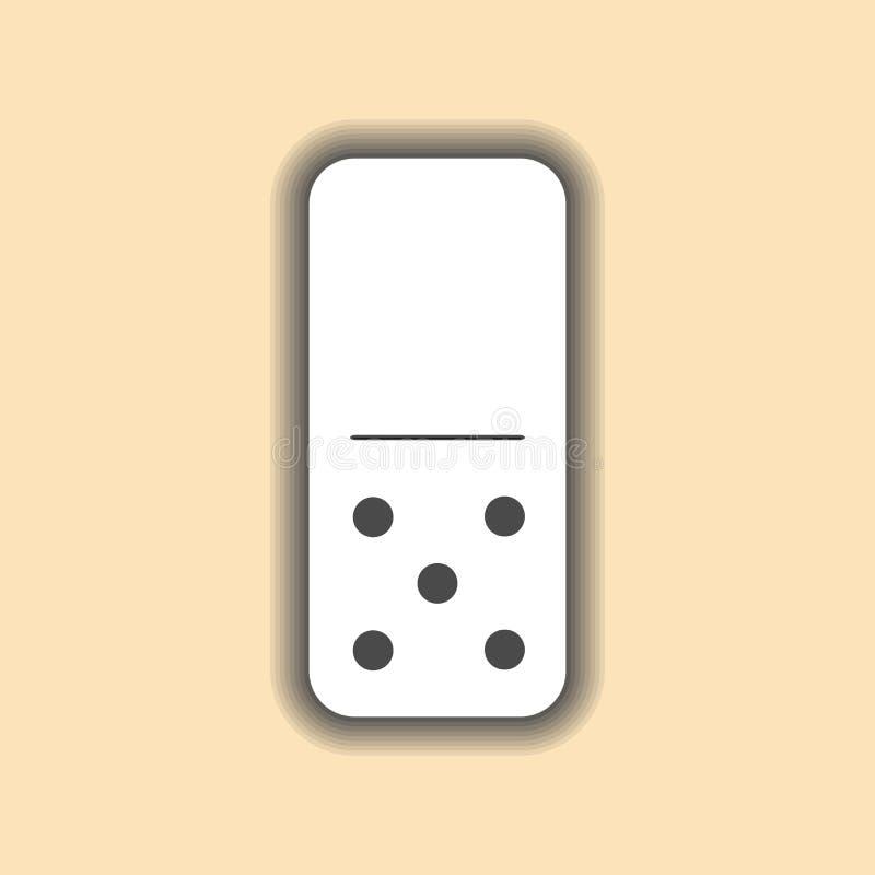 Blanco del dominó cero y cinco en fondo stock de ilustración