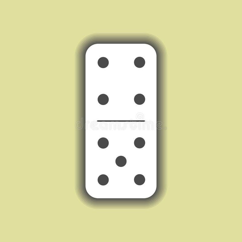 Blanco del dominó cuatro y cinco en fondo libre illustration