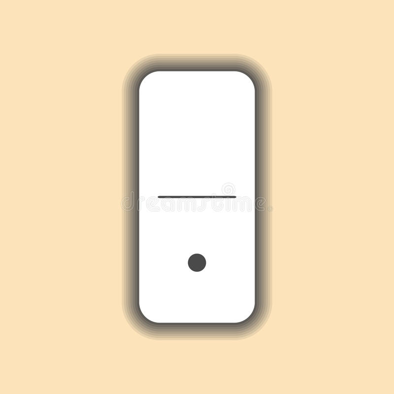 Blanco del dominó y un fondo cero encendido stock de ilustración