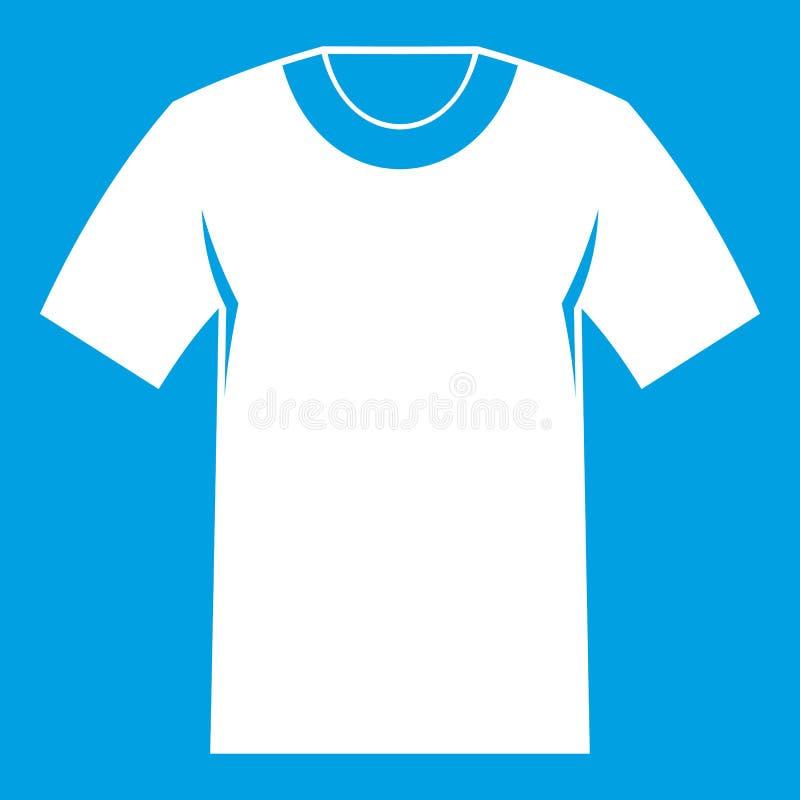 Blanco del icono de la camiseta stock de ilustración