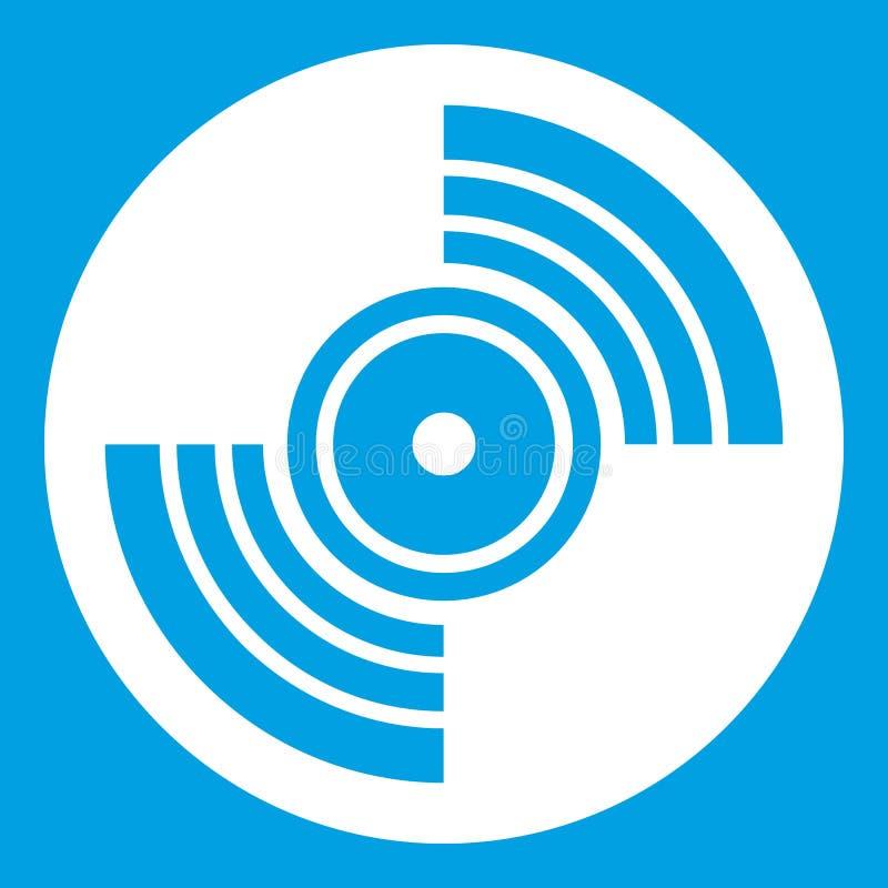 Blanco del icono del expediente de LP del vinilo del gramófono stock de ilustración