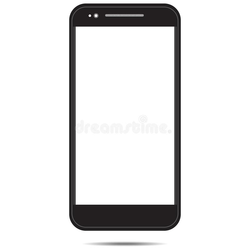 Blanco del negro de la plantilla de Smartphone aislado en background-01 blanco libre illustration