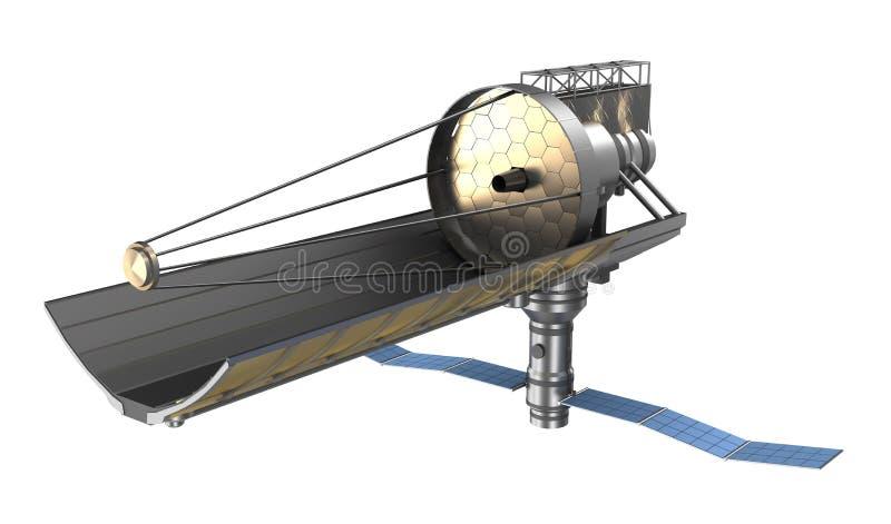 Blanco del ower del telescopio espacial Mis los propios diseño stock de ilustración