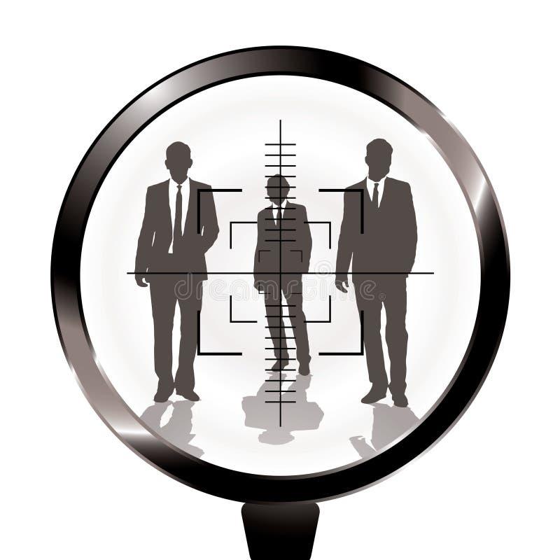 Blanco del rifle de los hombres de negocios stock de ilustración