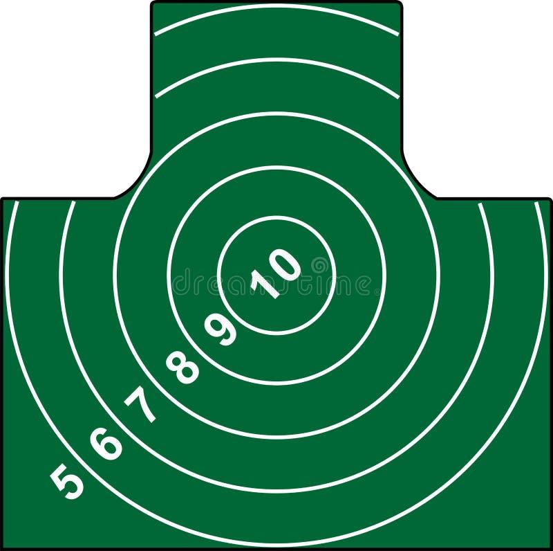 Blanco del Shooting stock de ilustración