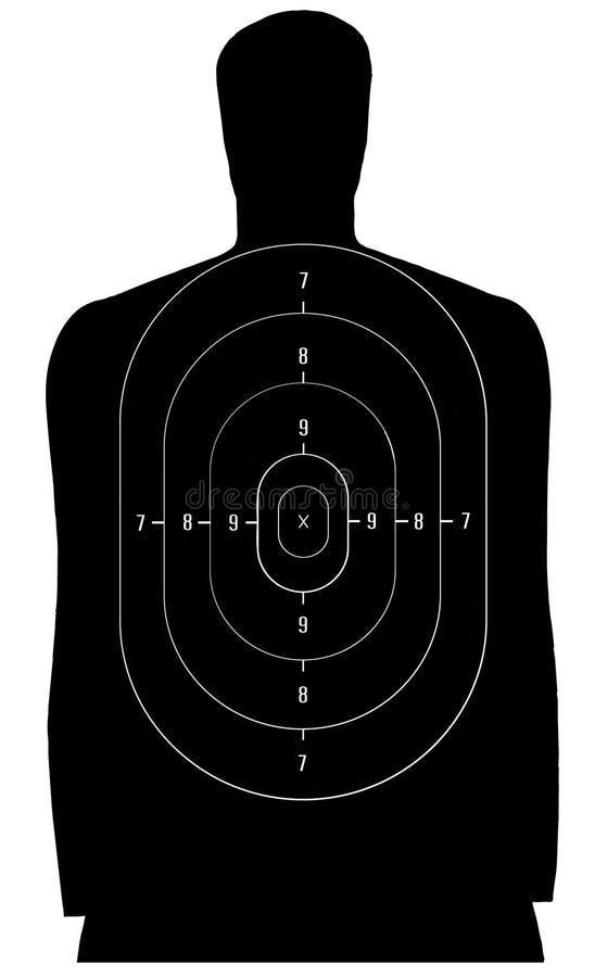 Blanco del tiroteo stock de ilustración