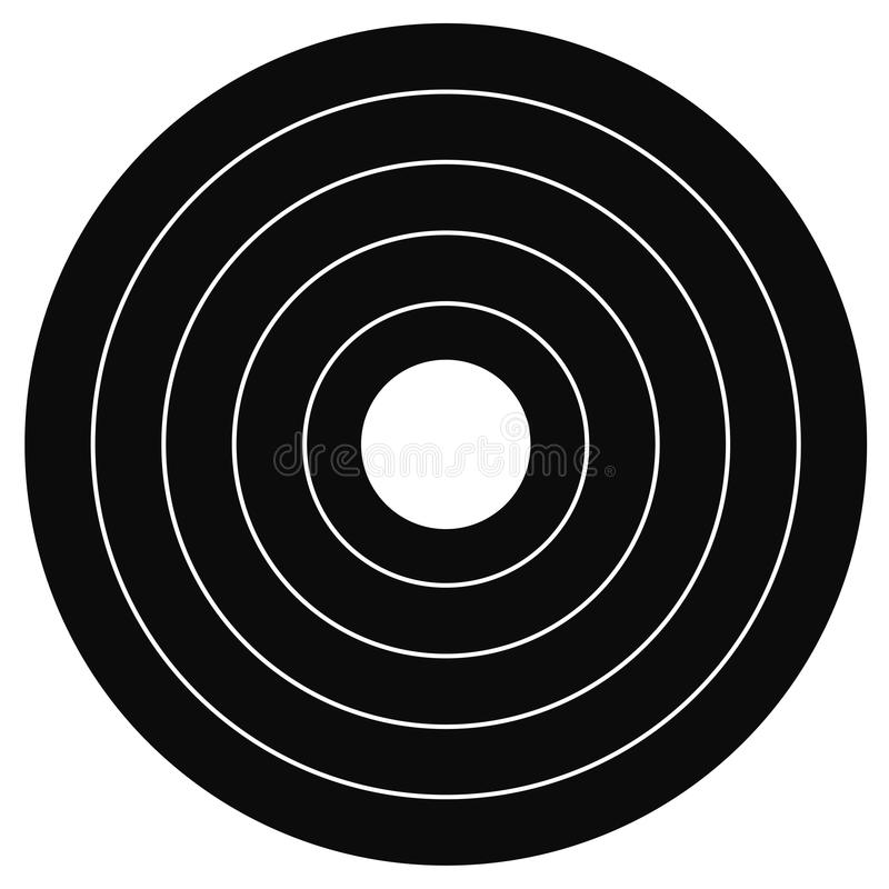 blanco del tiro al arco de campo de 40 cm imagen de archivo libre de regalías