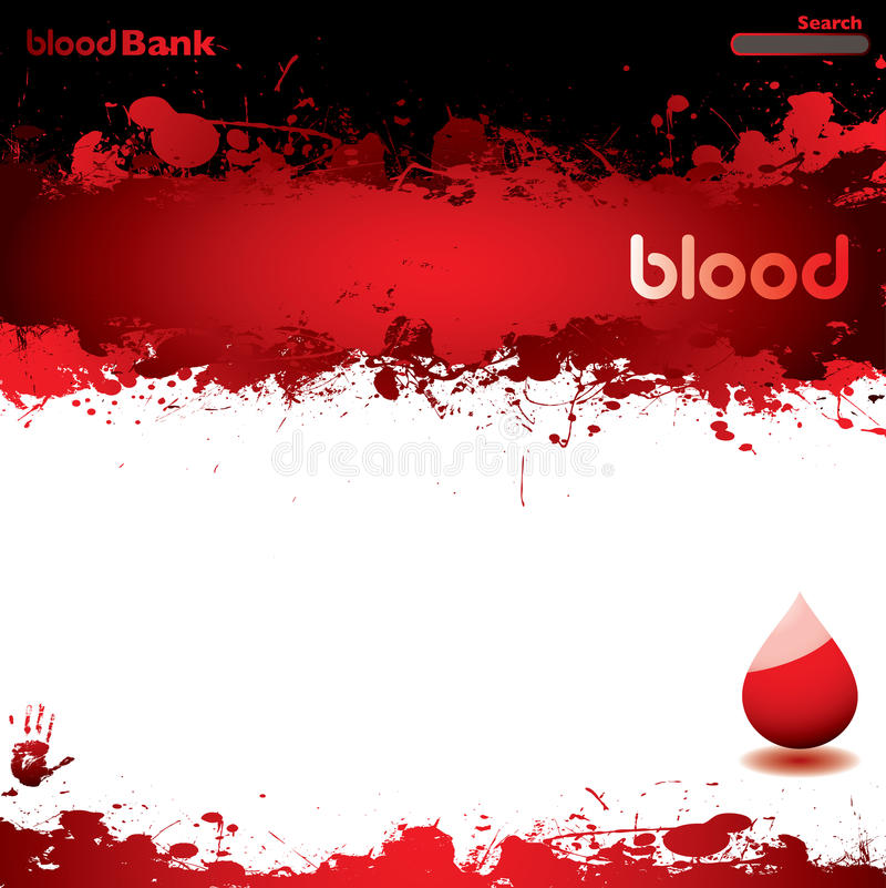 Blanco del Web de la sangre ilustración del vector