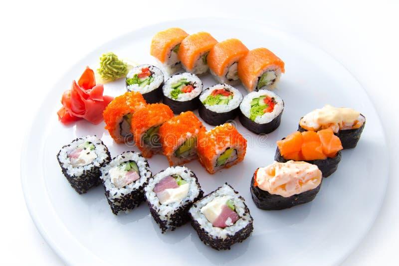 Blanco determinado del sushi foto de archivo