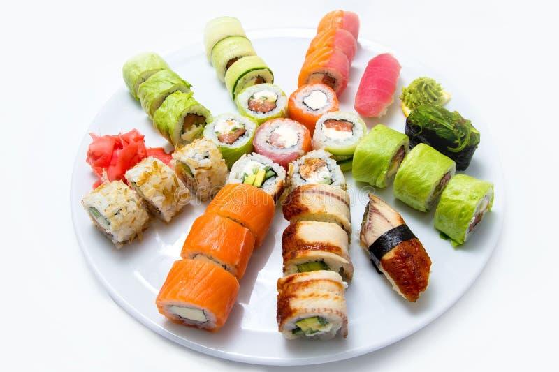 Blanco determinado del sushi imágenes de archivo libres de regalías
