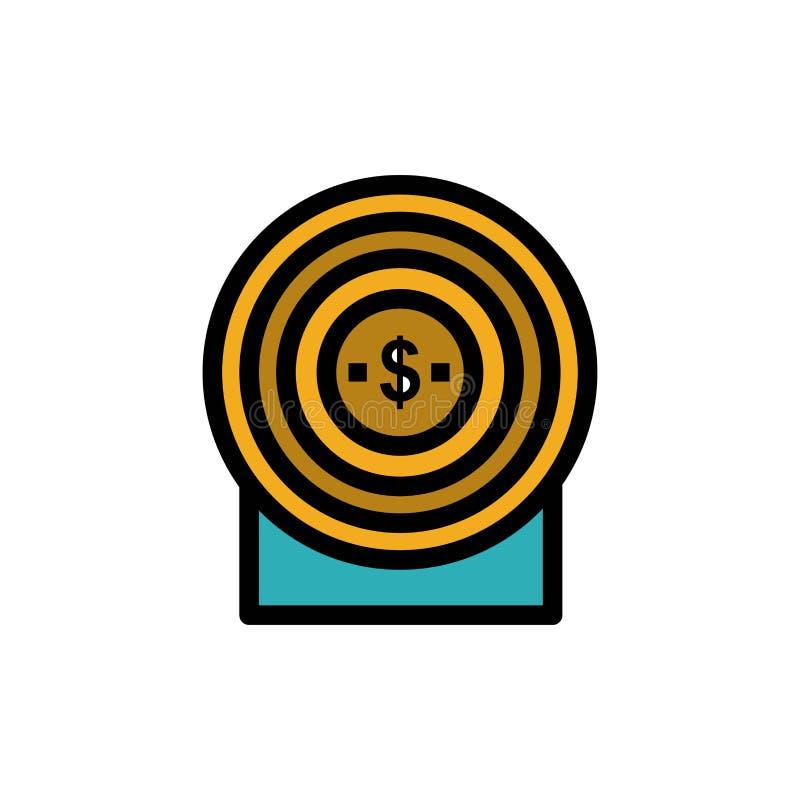 Blanco, dinero, logro, icono plano del color de la blanco Plantilla de la bandera del icono del vector stock de ilustración
