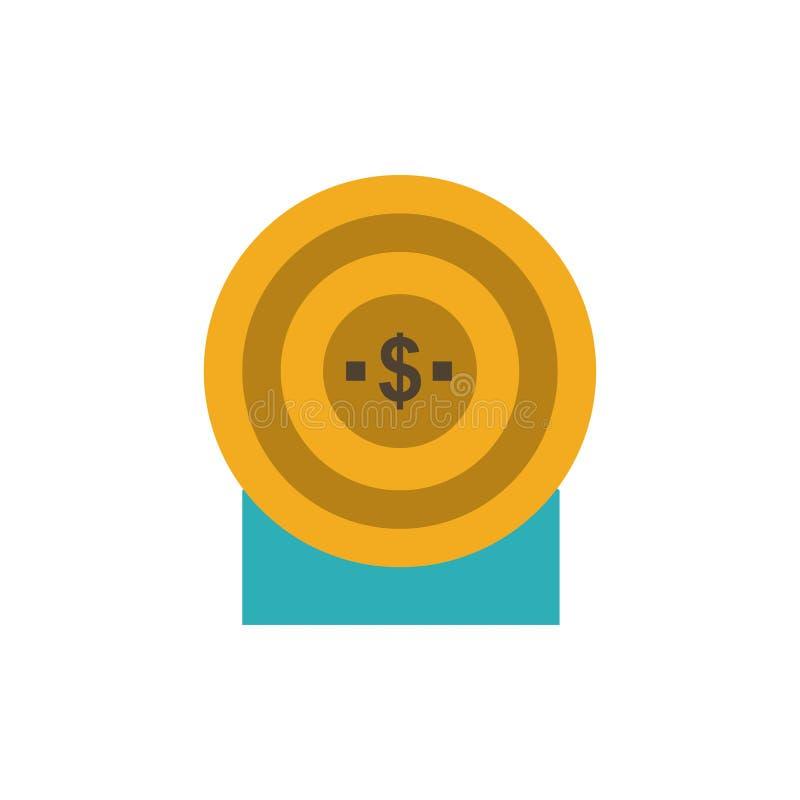 Blanco, dinero, logro, icono plano del color de la blanco Plantilla de la bandera del icono del vector libre illustration
