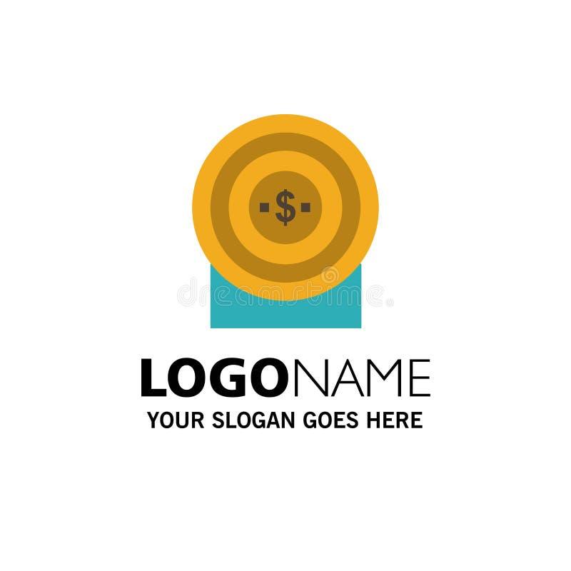 Blanco, dinero, logro, negocio Logo Template de la blanco color plano libre illustration