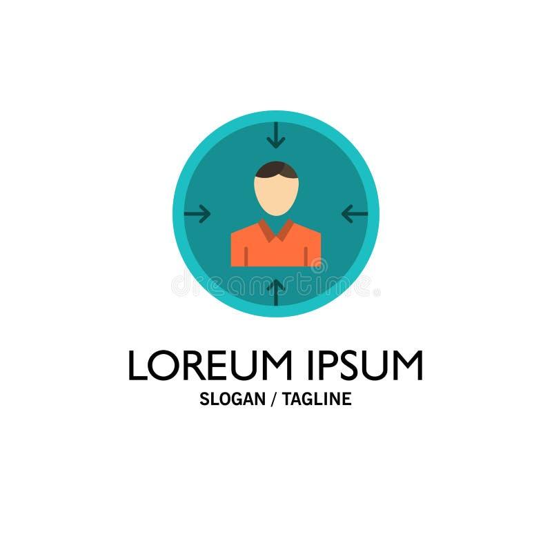Blanco, empleado, hora, caza, personal, recursos, negocio Logo Template del curriculum vitae color plano stock de ilustración