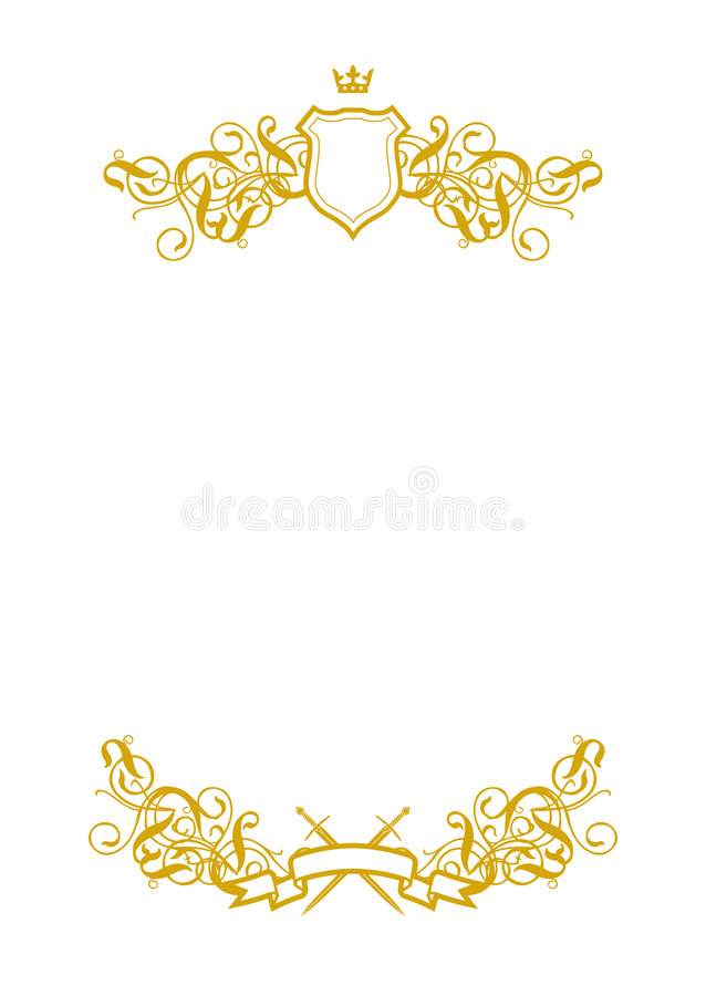 Blanco en blanco II ilustración del vector