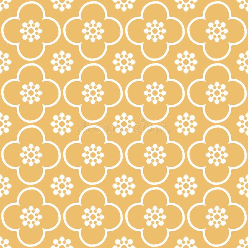 Blanco en fondo inconsútil anaranjado del modelo de la repetición del club y del círculo libre illustration