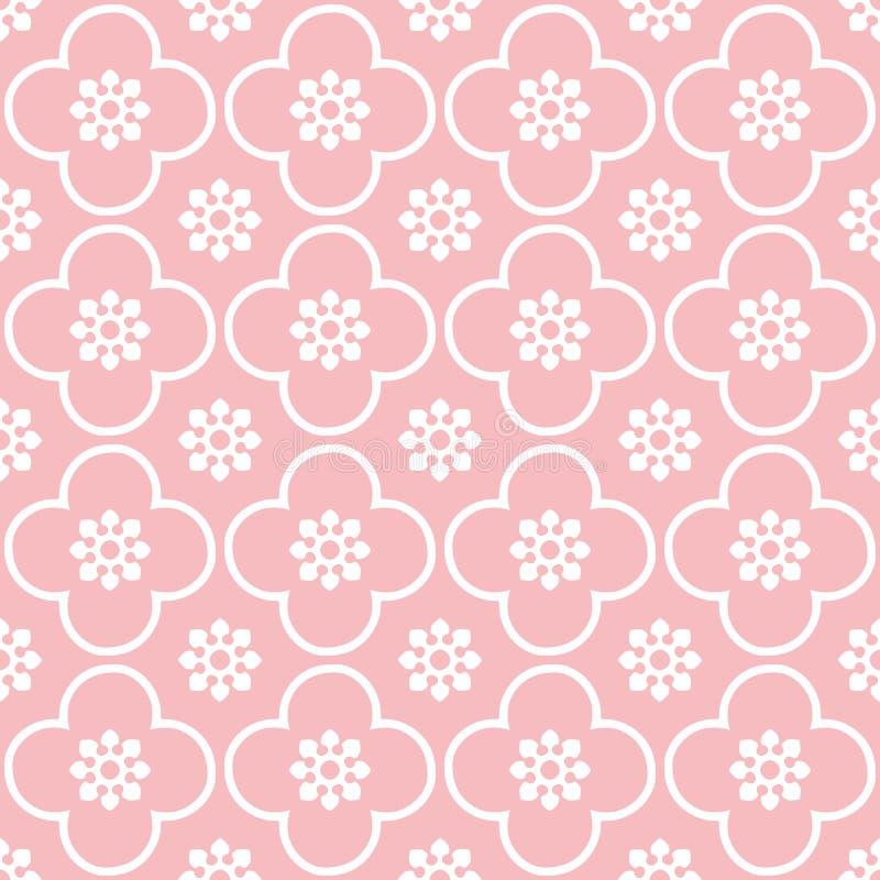 Blanco en fondo inconsútil rosado del modelo de la repetición del club y del círculo stock de ilustración
