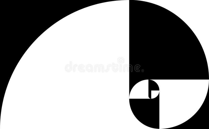 Blanco espiral de oro stock de ilustración