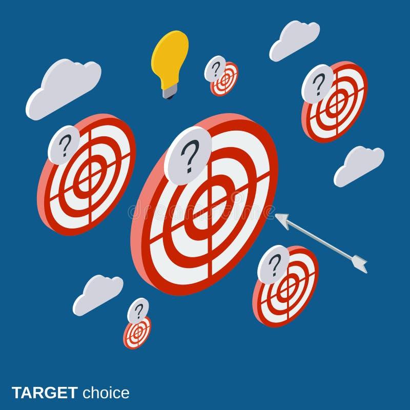 Blanco, estrategia, concepto bien escogido del vector de la solución ilustración del vector
