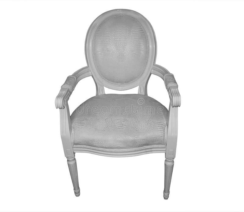 Blanco francés del carver del estilo de la silla imágenes de archivo libres de regalías